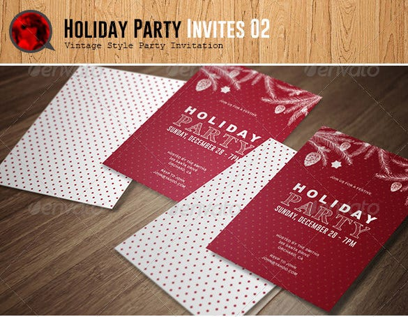 photoshop holiday party invitation template 6