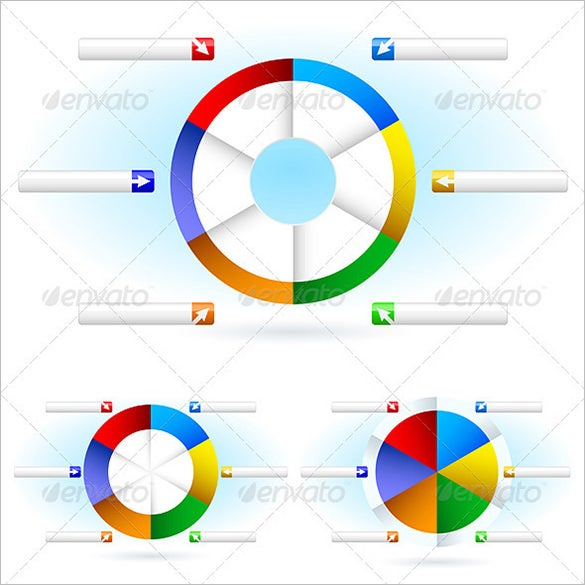 photoshop pie charts template
