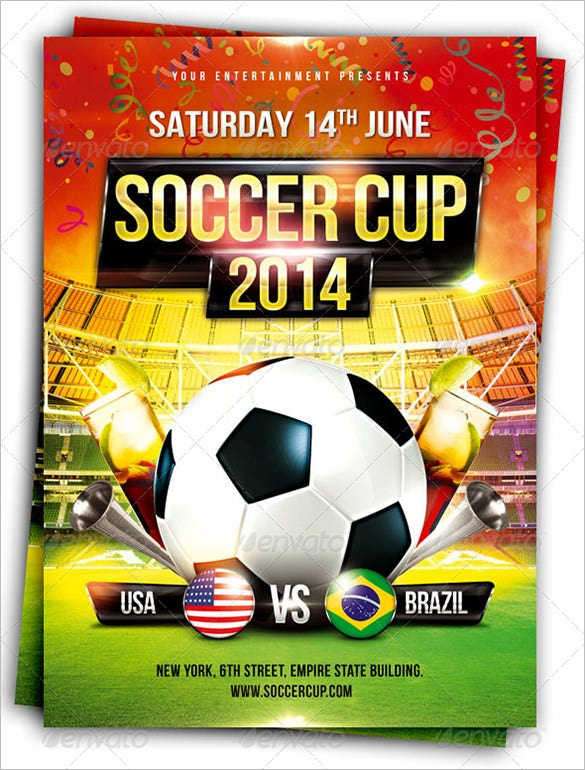 photoshop soccer cup flyer template 6