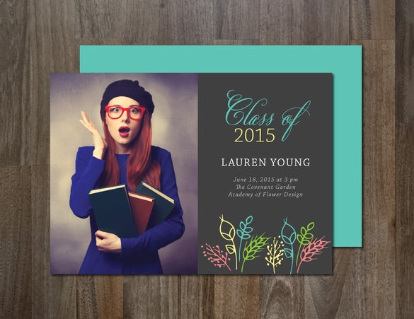 20 fantastic psd graduation announcement templates free premium templates. Black Bedroom Furniture Sets. Home Design Ideas