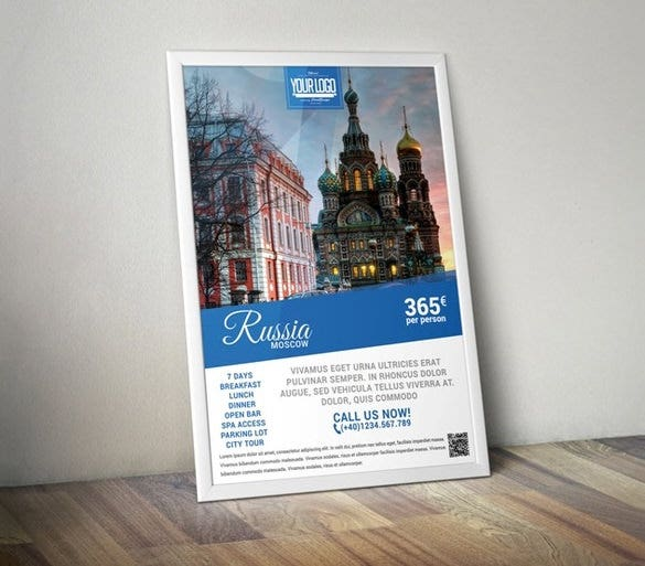 photoshop travel agency flyer 3