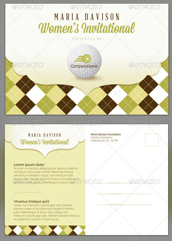 photoshop womens golf invitation template
