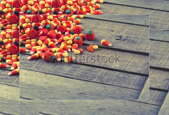 pile spread halloween candy corn template