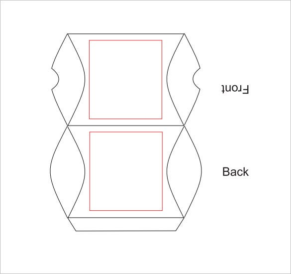 pillow box template example