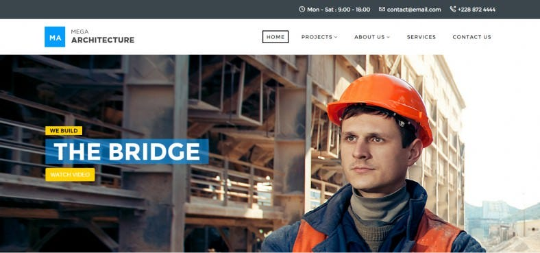 Pixel Perfect Joomla Theme for Construction