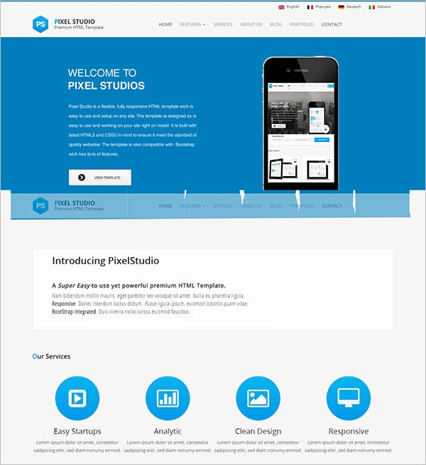 pixel studios multi purpose html template