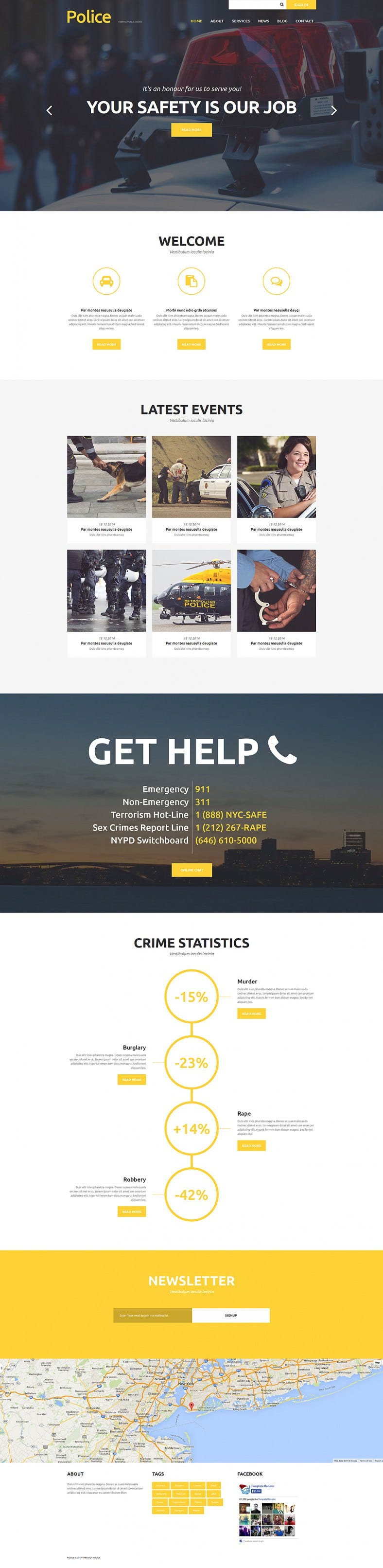 police department joomla template 788x3224