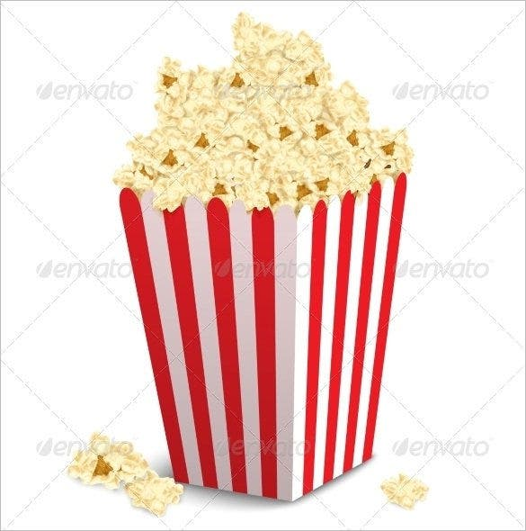 graphic relating to Printable Popcorn Template named 14+ Ideal Popcorn Box Templates - PDF, PSD, Vector EPS No cost