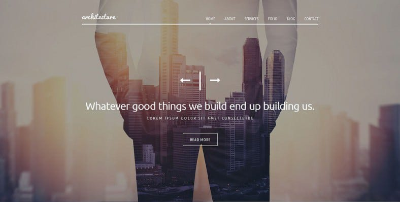 Popular Architecture Joomla Parallax Effect Template