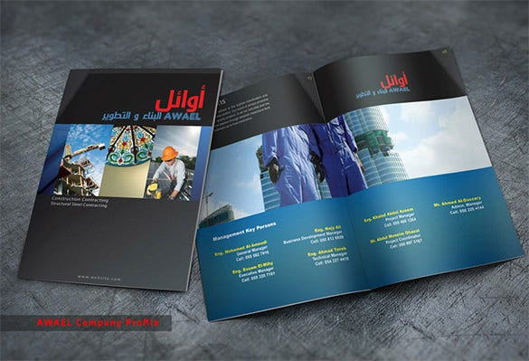 Top Construction Company Brochure Templates  Free  Premium