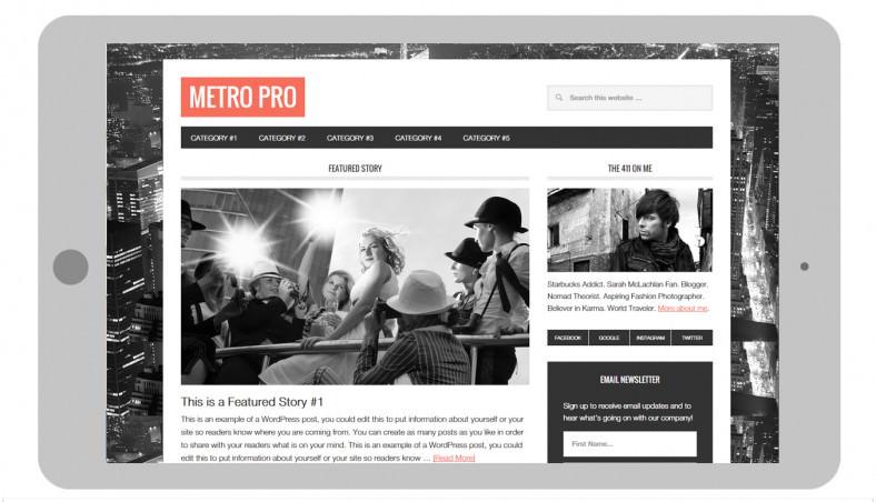 Popular Genesis Framework Metro Style Wp