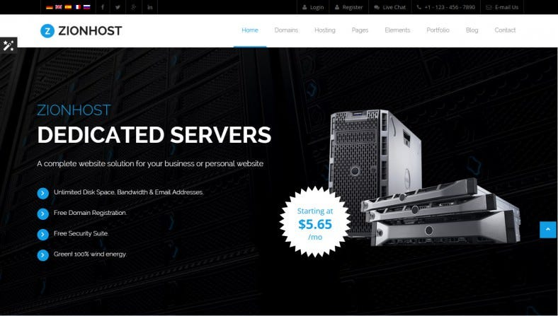 popular home slider hosting html template 788x447