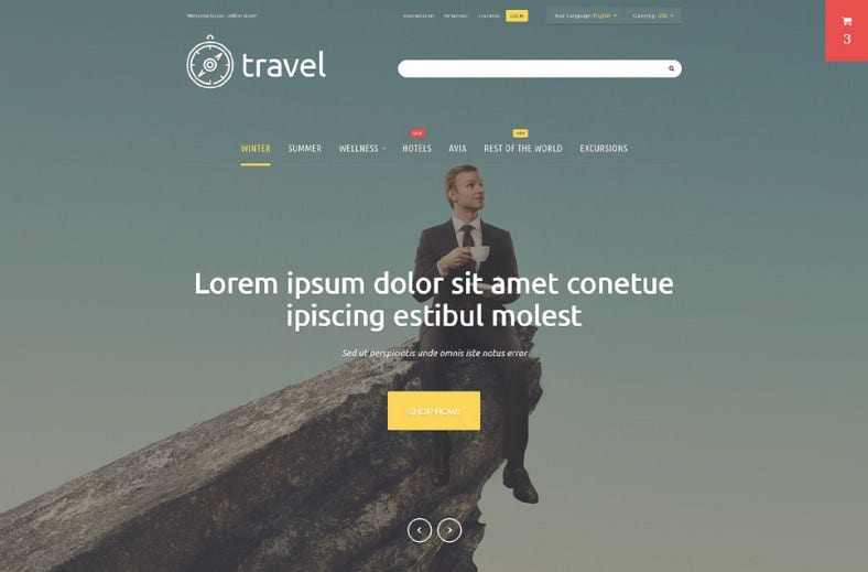 Popular ListGrid View Traveler Magento Template