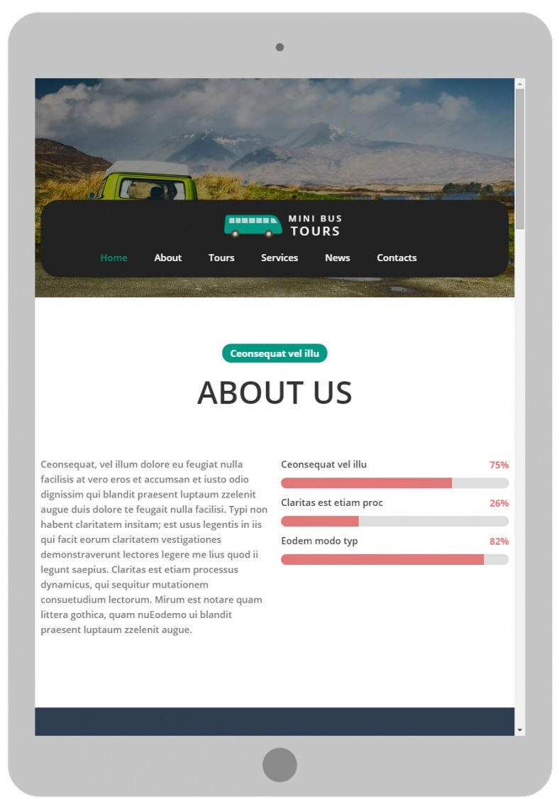 popular travel website mobile template 788x1126