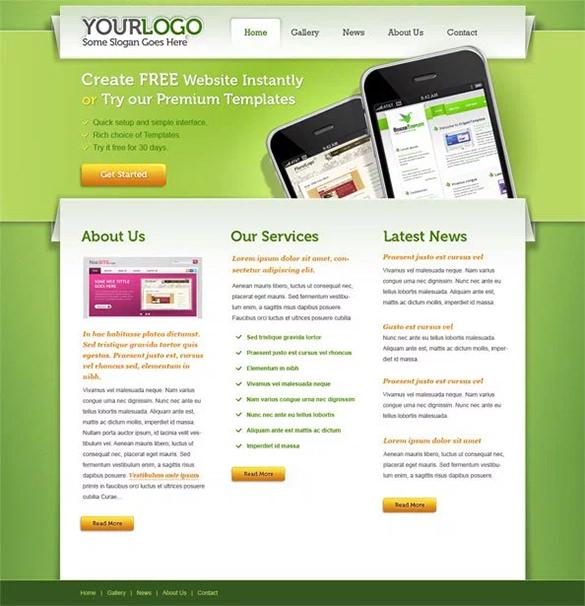 portfolio free psd website template