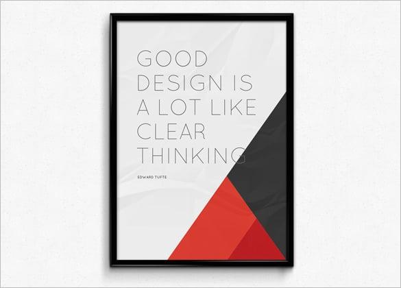 Fresh PSD Poster Mockups for Design Lovers