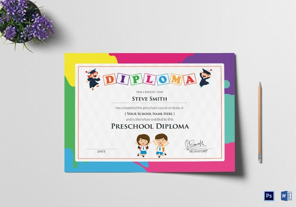 School Certificate Template 23 Free Word Psd Format Download