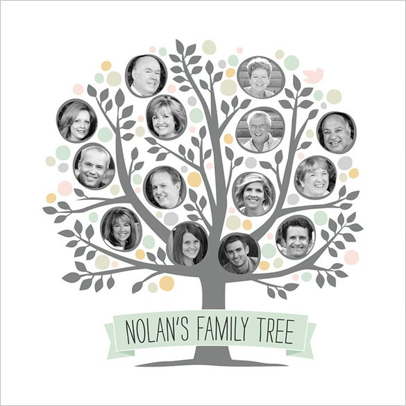 precious editable photo family tree