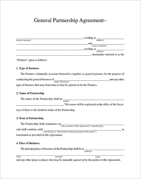 premium business partnership contract template