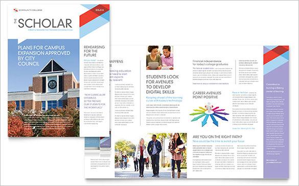 premium college classroom newsletter template
