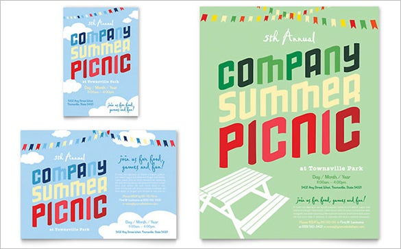 premium flyer template for picnic download