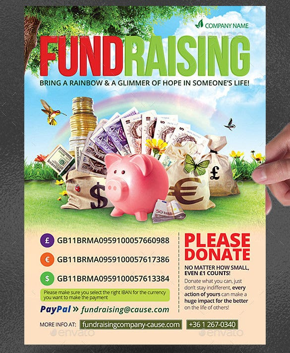 Premium Fundraising Flyer Photoshop PSD U2013 $6