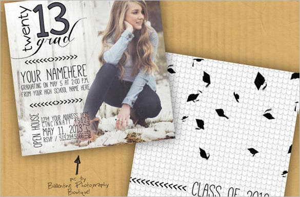 Fantastic Psd Graduation Announcement Templates  Free  Premium