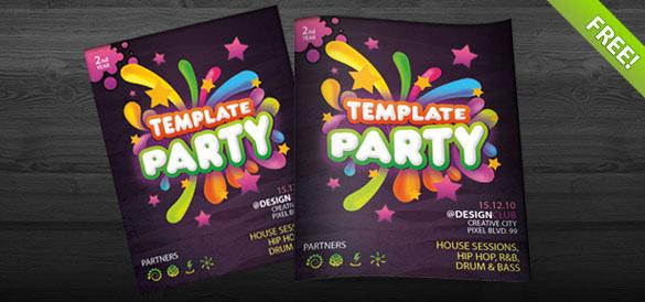 premium invitation flyer template download