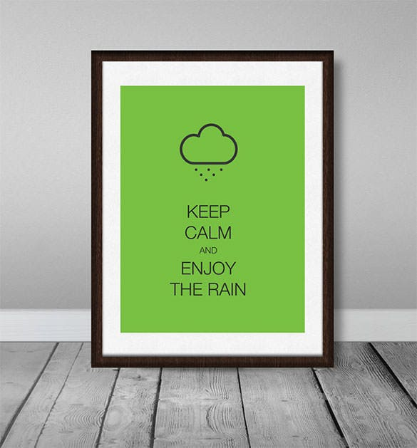 premium keep calm psd poster template