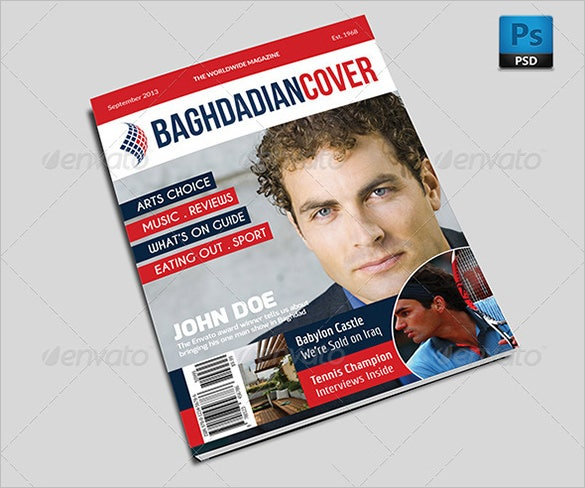 premium magazine cover psd template for news 6
