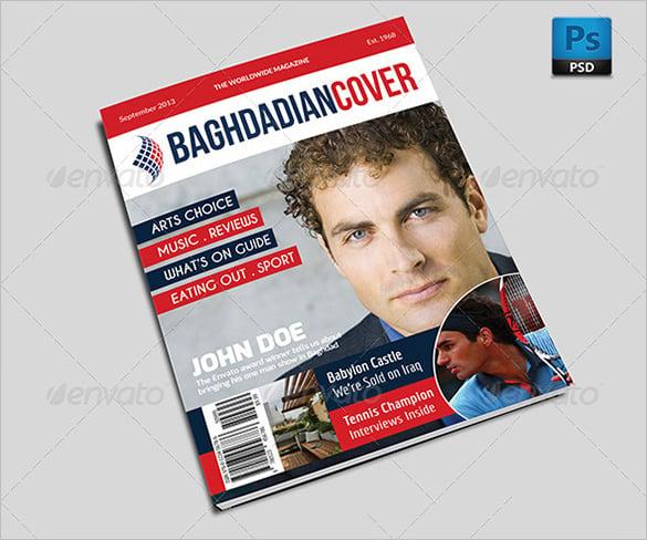 premium magazine cover psd template for news 6