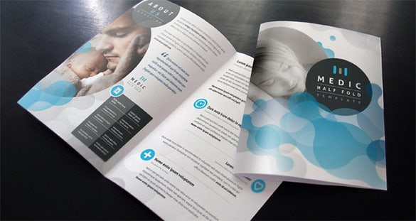 premium medical bi fold brochure template