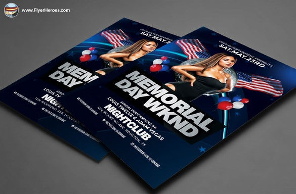 premium memorial day flyer template 9