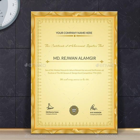 premium multipurpose certificate template