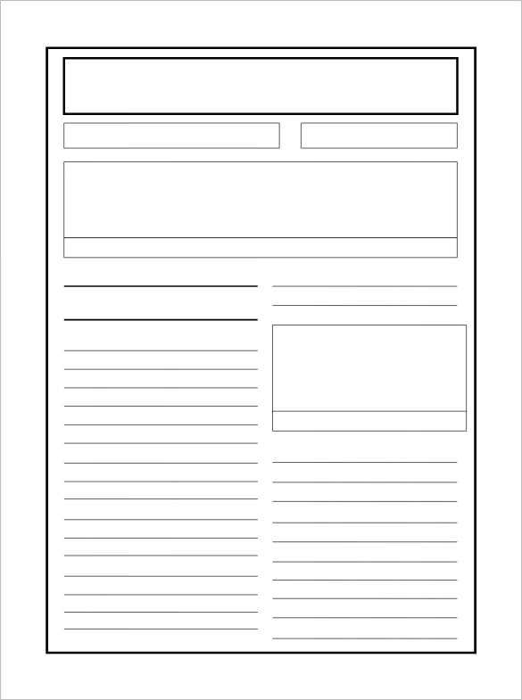 8 newspaper report templates illustration design files for Free printable newspaper template for students