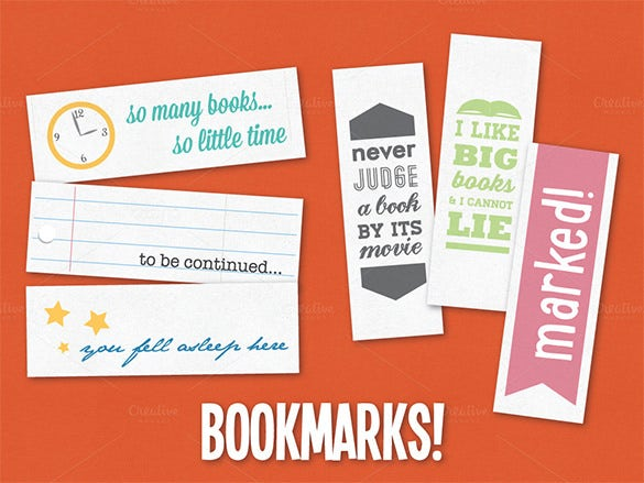 premium photshop bookmarks template