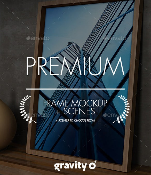 premium picture poster frame mockup scenes
