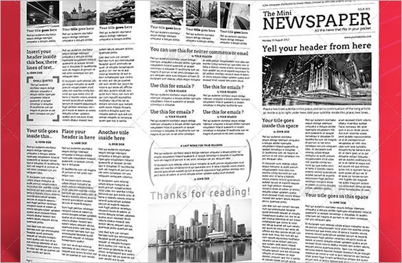 School Newspaper Templates   Free Eps Documents Download  Free