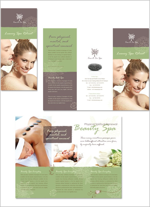 Amazing Spa Brochure Templates  Designs  Free  Premium