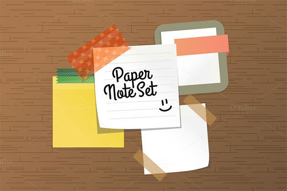 premium sticky paper note set