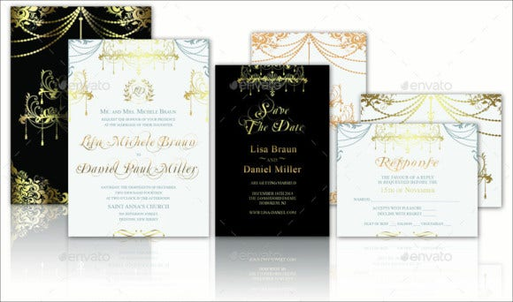 premium wedding invitation card template