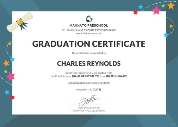 preschool graduation certificate template2