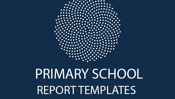 primary school report template featured image