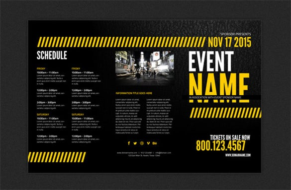 print ready event brochure template 499