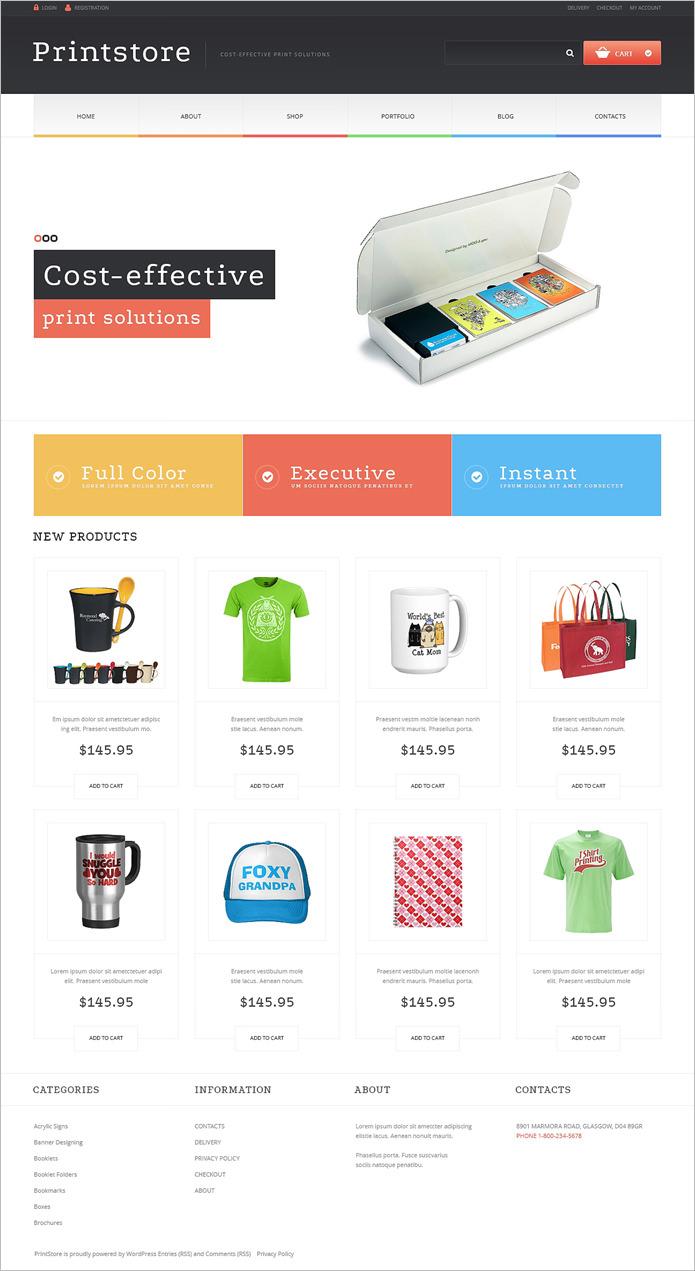 best print shop woocommerce themes templates free premium