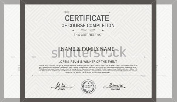 printable achievement certificate design template