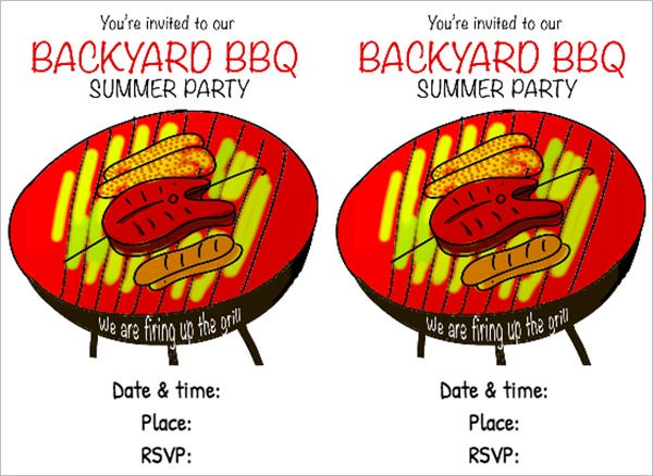 printable bbq party invitation backyard bbq