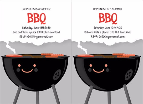 printable bbq party invitation smiling smoker