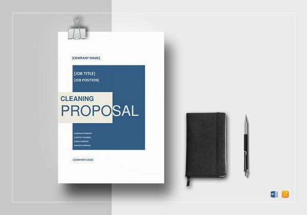 printable cleaning proposal template