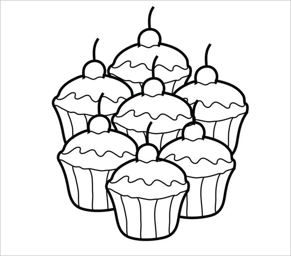 picture regarding Cupcake Template Printable called Printable Cupcake Template - 25+ EPS, Phrase Files